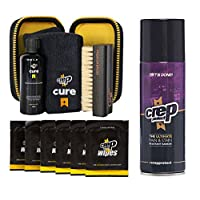 Crep Protect Cure Kit, Ultimate Rain & Stain Shoe Spray and 6 Wipes (Bundle Gift Pack)