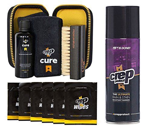 -  Crep Protect Cure Kit, Ultimate Rain & Stain Shoe Spray and 6 Wipes (Bundle Gift Pack)