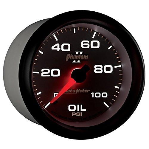 (Auto Meter 7821 Phantom II Mechanical Oil Pressure Gauge)