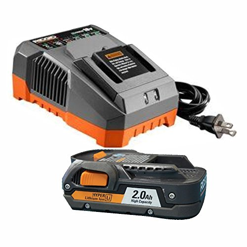 Ridgid R840086 18-Volt 2.0 Ah Lithium-Ion Battery and R86092 18-Volt Charger (Certified Refurbished) (18v Ion Lithium Ridgid)