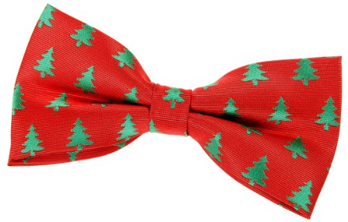 retreez christmas tree pattern woven pre tied bow tie 5 green christmas gift at amazon mens clothing store christmas bow ties for men