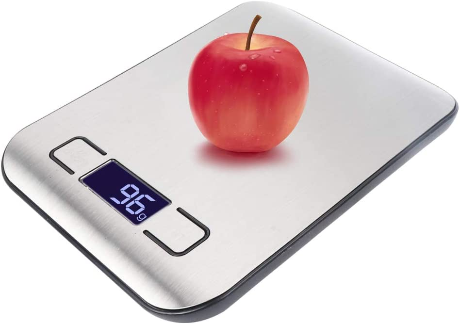 Vech Digital Food Scale Kitchen Weight Scales with LCD Display Tare Function, Stainless Steel Big Weighing Platform for Baking, Cooking - Support OZ, ML, LB'OZ and G