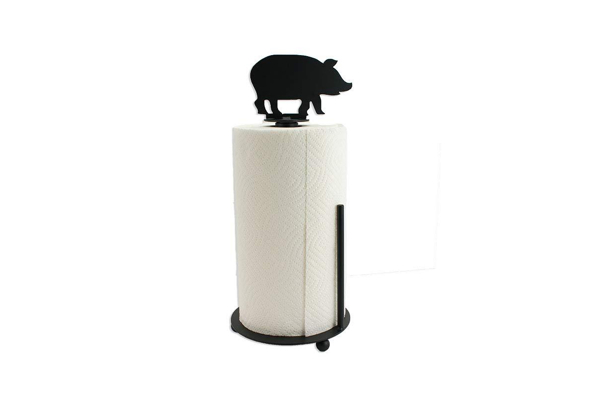 Pig Paper Towel Holder - Farmhouse Kitchen Decor - Metal Paper Towel Holder - Kitchen Decor - Farmhouse Kitchen Decor - Standing Holder