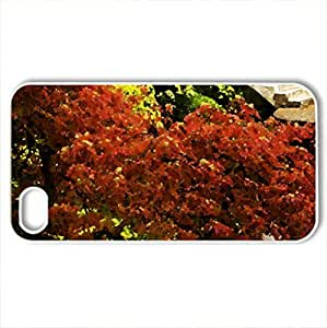 Japanese Garden - Case Cover for iPhone 4 and 4s (Watercolor style, White)