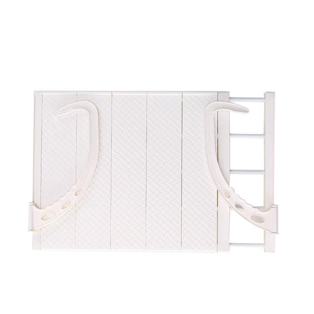Fullfun Adjustable Folding Clothes Drying Racks Hanger Shelf Creative Balcony Storage Holder Outdoor Indoor Clothes Drying Rack Hanger (White) by Fullfun_Clothes Drying Racks