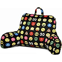 Backrest Cushion Back Support Pillow Emoji Bed Rest Plush Pillow Lounger Support Arm Stable TV Reading
