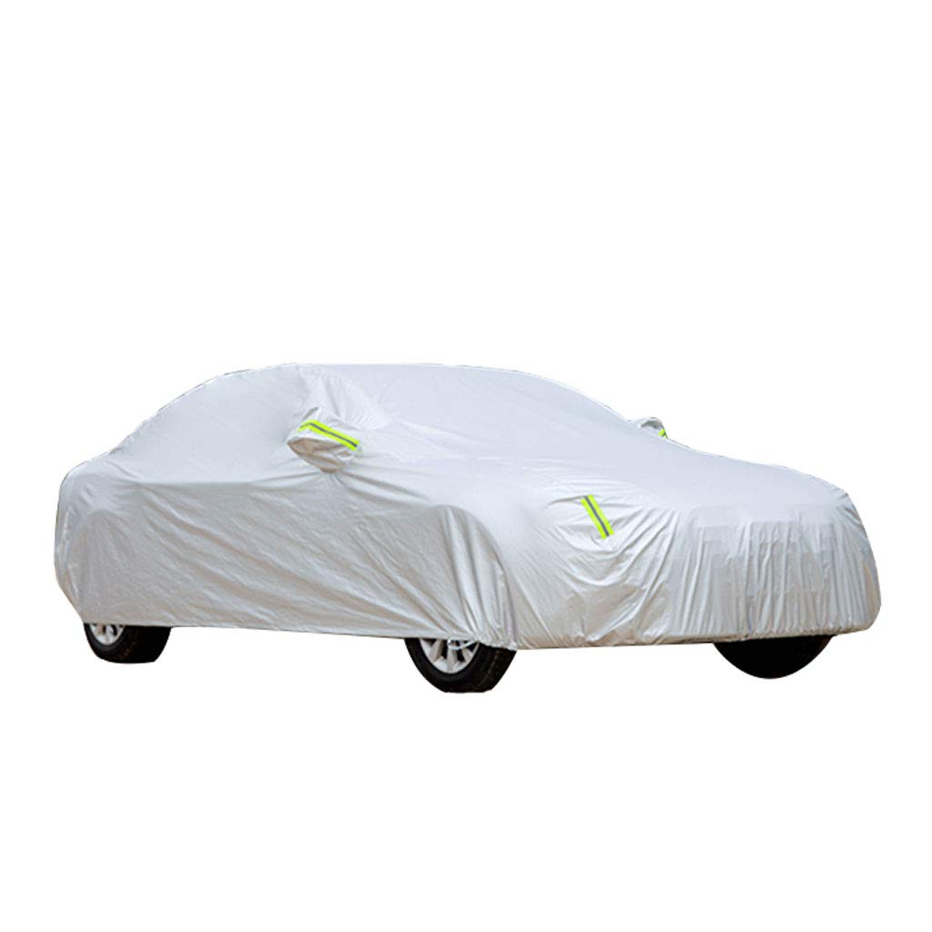 シルバーの日焼け止めのレインオックスフォードの布カーカバー防塵絶縁寒い冬の綿の厚い特別な車のレインコート B07KZSF9PB