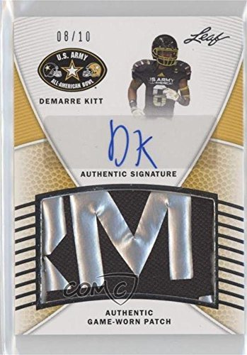 Demarre Kitt #8/10 (Football Card) 2014 Leaf U.S. Army All-American Bowl - Game-Used Patch Autographs - Silver #PA-DK1