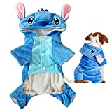 Gimilife Pet Costume, Disney Stitch Cartoon Pet Custume Coat,Pet Outfit,Pet Pajamas Clothes Hoodie Coat for Small Medium Large Dogs and Cats,Halloween and Winter(XXL)