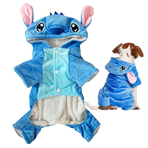 Gimilife Disney Stitch Cartoon Pet Custume Coat for Small Medium Large Dogs (L) (Lilo And Stitch Dog Costume)
