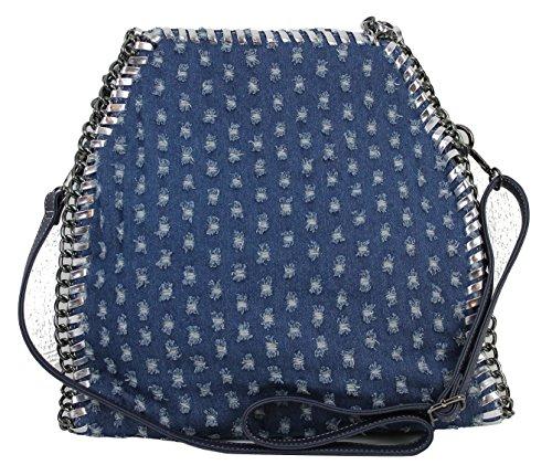 Effetto Grigio Jeans Limited Donna Ohne blau Da Anhänger Catena Jeans In Con Nero Vivien Rosa Pelle Borsa colors 6ww4qnfUv