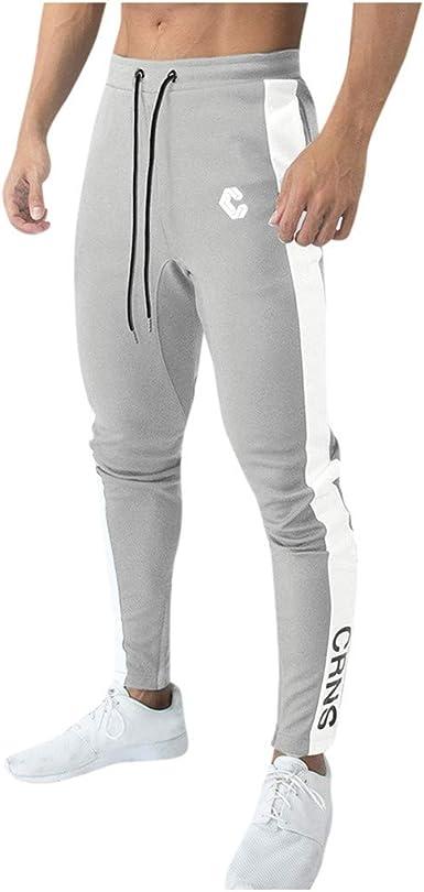Nusgear Vpass Pantalones Para Hombre Pantalones Casuales Moda Deportivos Patchwork Pants Jogging Pantalon Gym Fitness Slim Fit Pantalones Largos Pantalones Ropa De Hombre Pantalones De Trekking Amazon Es Ropa Y Accesorios