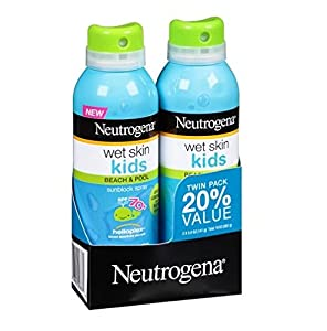 Neutrogena WET Skin Kids Beach & Pool Sunscreen Broad Spectrum Spf 70+, 5 Ounce Spray (2 Pack)