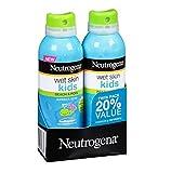 Neutrogena WET Skin Kids Beach & Pool Sunscreen Broad Spectrum Spf 70+, 5 Ounce Spray (2 Pack)