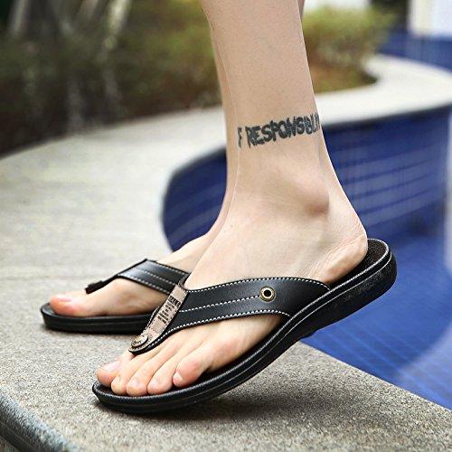 Xing Lin Herren Sandalen Flip-Flops Für Männer Sommer Der Wearable Männer Hausschuhe Skid Slip Sommer Strand Schuhe Trends And Sandals Männer black