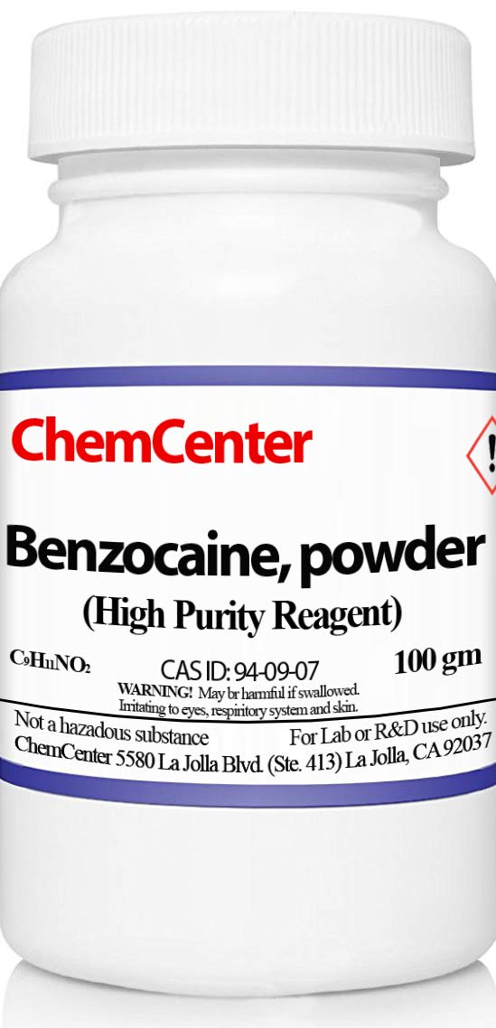 Benzocaine, High Purity, Reagent, 100 grams
