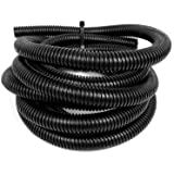 "Wire Loom Black 20' Feet 1"" Split Tubing Hose Cover Auto Home Marine by Nippon America"