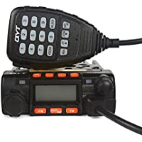 QYT KT8900 Mini Dual Band Car Radio, VHF/UHF 136-174/400-480MHz 25W/20W Mobile Transeiver, with programming cable, Black