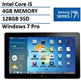 Samsung Series 7 11.6 Slate Tablet with Docking (Intel Core i5 Processor, 4GB RAM, 128GB SSD, HDMI, Dual Webcam, Bluetooth, Windows 7 Professional)(Certified Refurbished)