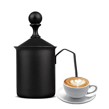 bulary 500 ml espumador de crema manual DIY Fancy crema de café cafetera de acero inoxidable