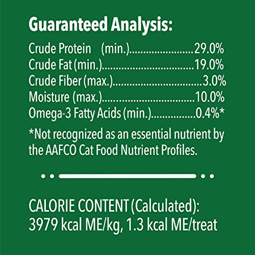 FELINE GREENIES SMARTBITES Healthy Skin and Fur Natural Treats for Cats Salmon Flavor 2.1 oz Pouch