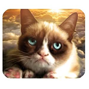 Fashion Mouse Mat the Unhappy Cat Tard the Grumpy Cat Customized Rectangle Mousepad by ruishername