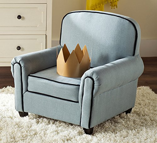 Safavieh Kids Collection Tiny Tycoon Club Chair, Blue by Safavieh