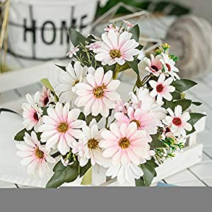 ywbtuechars Handmade Artificial Flower Fake Daisy Gerbera Artificial Flower Bud Cloth Flower Small Daisy Flower Home Living Room Table Vase Decoration Flower 1Pc 9 Branches 9