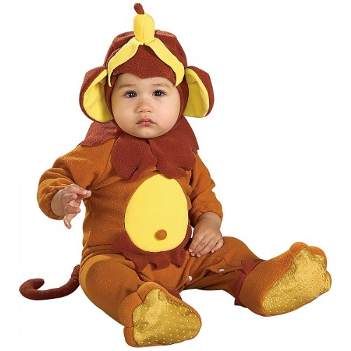 Rubie's EZ-On Romper Costume, Monkey See Monkey Do, 6-12 Months