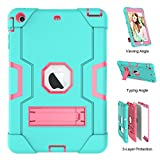 iPad Mini Case - iPad Mini 2 Case - iPad Mini 3 Case - UZER Heavy Duty Shockproof Anti-Slip Silicone High Impact Resistant Hybrid Three Layer Armor Protective Case Cover with Kickstand for iPad Mini 1 2 3