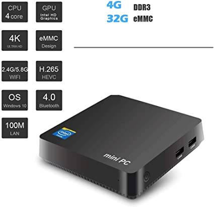 Ovegna Mini PC MN5A : Intel Celeron N3450 Quad Core, 4GB DDR3 32GB ...