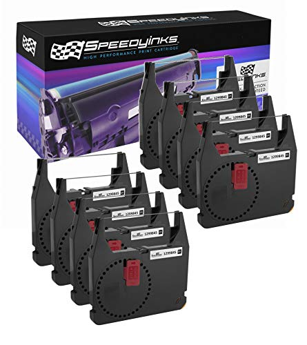 Speedy Inks Compatible Printer Ribbon Cartridge Replacement for IBM 1299845 (Black, 8-Pack)