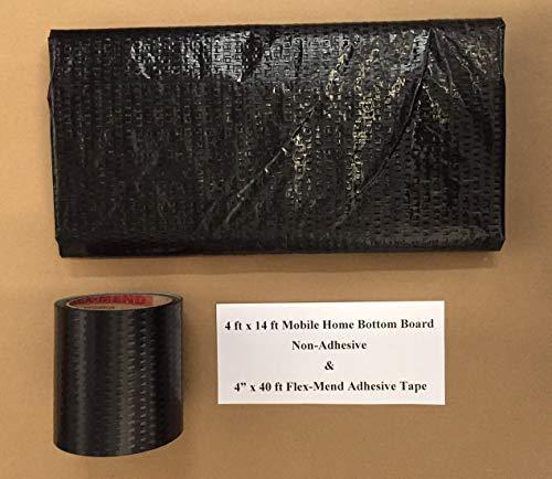Bottom Plastics Kit - Mobile Home RV Flex Mend Belly Bottom Repair Kit-Fix Holes & Rips 48