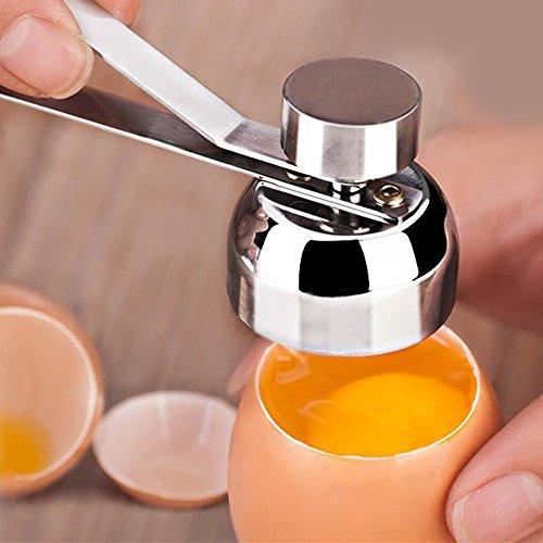 Gotian Stainless Steel Egg Topper Cutter Shell Boiled Raw Egg Clean Opener Scissors Tool
