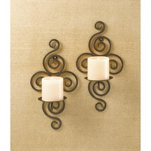 Amazon.com: Gifts & Decor Pair of Swirling Iron Hanging Wall ...