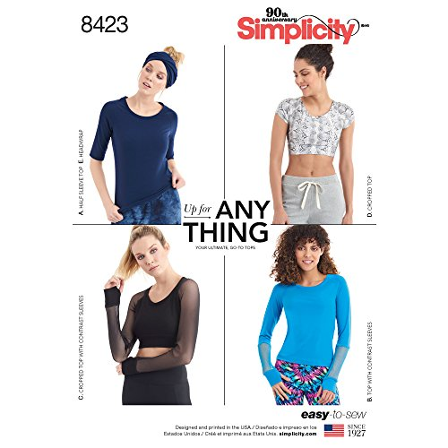 Simplicity Pattern 8423 Misses' Knit Top with Sleeve Variations and Headwrap