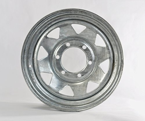 eCustomRim Trailer Rim Wheel 15 x 6 in. 15x6 6 Lug Hole Bolt Wheel Galvanized Spoke Design
