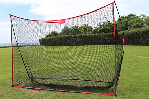 Winnet 10'x7' ft Practice Golf Net, Portable Hitting Net for Golf, Soccer, Baseball, Softball, Golf Net for Backyard Driving with Carry Bag, Practice Indoor/Outdoor