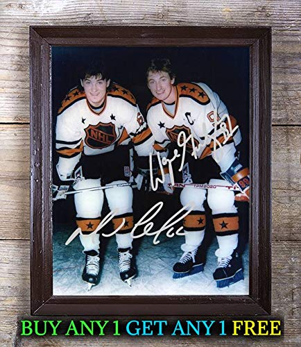 Mario Lemieux & Wayne Gretzky Hockey Player Autographed 8x10 Photo Reprint #59 Special Unique Gifts Ideas Him Her Best Friends Birthday Christmas Xmas Valentines Anniversary Fathers Mothers Day