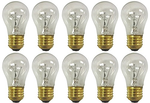 Royal Designs Long Life Appliance and Utility Light Bulb 15-Watt Clear A-15 130V 2500 Life Hours ( 10-Pack ) ( LB-5011-10 )