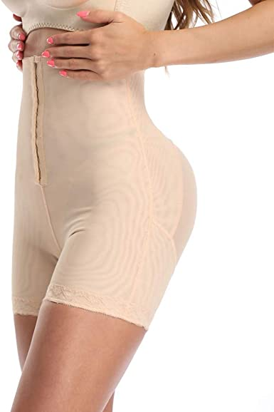 Eddizu Womens Seamless Shapewear Tummy Control Body Shaper High-Waist Shorts Butt Lifter Thigh Slimmer