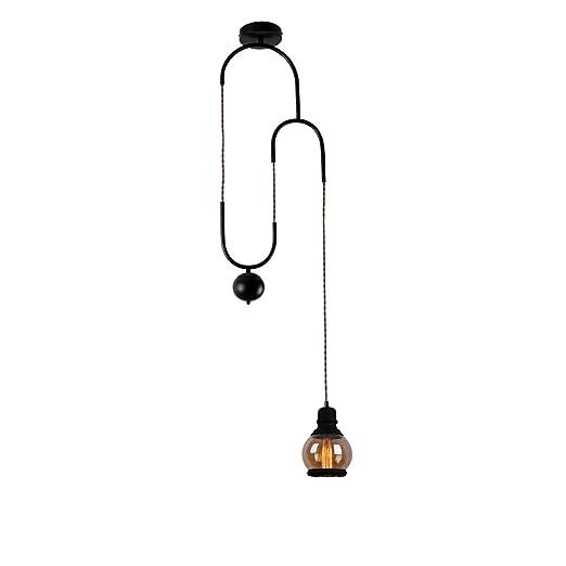 Amazon.com: Unitary Brand - Lámpara de techo de metal negro ...