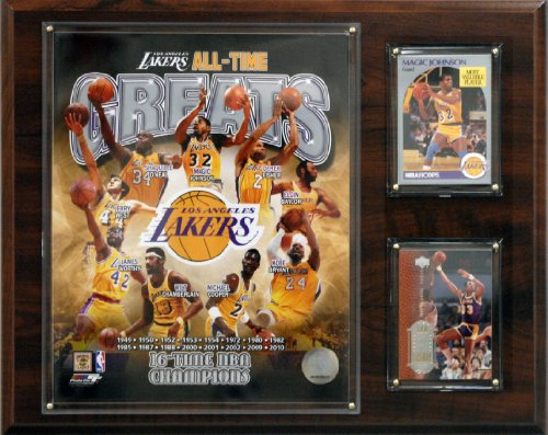 Los Angeles Lakers Framed - NBA Los Angeles Lakers All-Time Great Photo Plaque