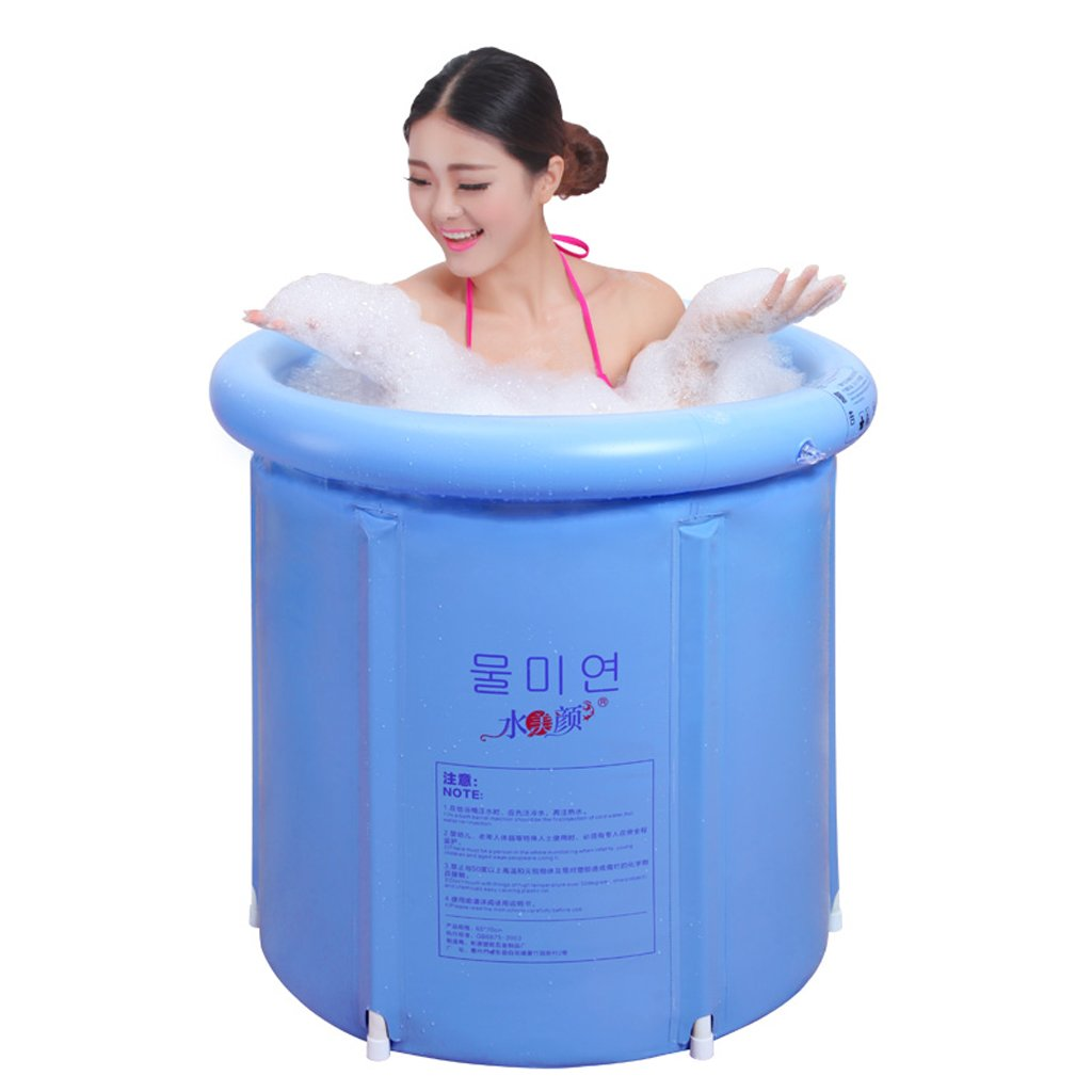 Cqq Bathtub Adult Children Bath Tub Plastic Thicker Home Inflatable Bathtub (Size : 7575cm)