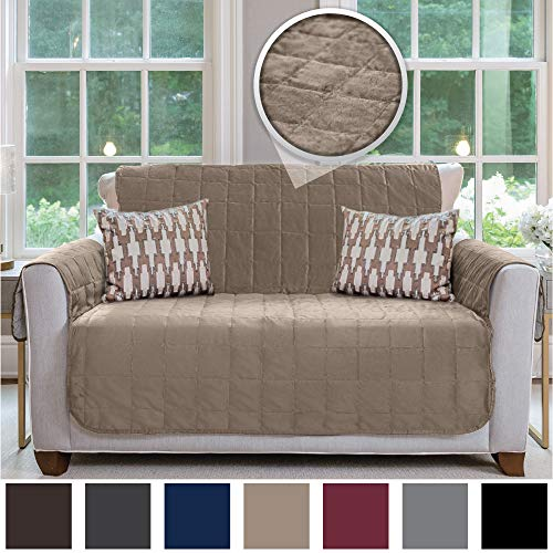 - GORILLA GRIP Original VELVET Slip Resistant Luxury Loveseat Slipcover Protector, Seat Width Up to 54