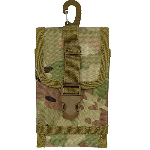 Find Cheap For iPhone 6s Plus, LefRight Camouflage Tactical Molle Compact Carrier Nylon Pouch Holste...