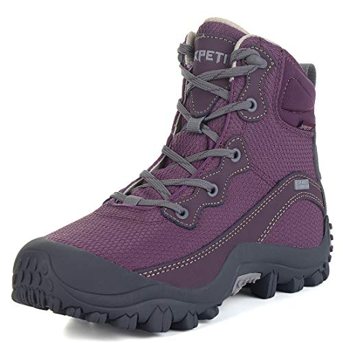 (GEAR DEPOT Women's Hiking Boots Waterproof Lightweight Hiking Shoes Outdoor Trekking Trail Purple)