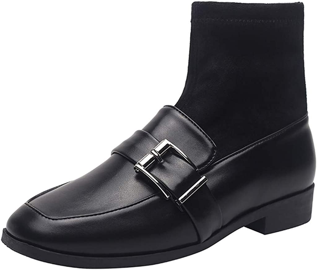 Botines Mujer,Yesmile Zapatos de Invierno de Mujer de Las señoras Botas Bajas de Botas de Nieve de Cortas de Gamuza gastadas más Terciopelo Botas Corta Mujer