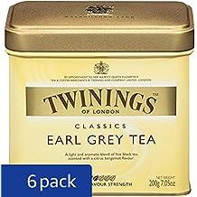 Twinings Earl Grey Tea, Loose Tea, 7.05-Ounce  Tins (Pack of 6)