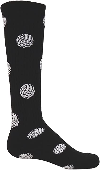 White - Large Red Lion Volleyball Knee High Sock